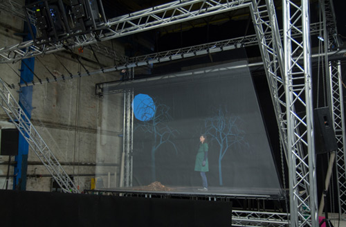 3d hologram stage rigg
