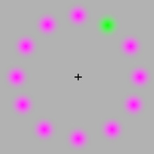 green dot illusion
