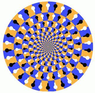 illusion illusions optical spinning circle cool animation dot